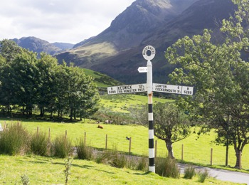 Sign post in the Lake District