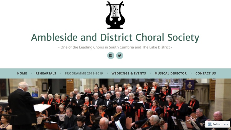 Ambleside Choral Society Christmas Concert December 2018