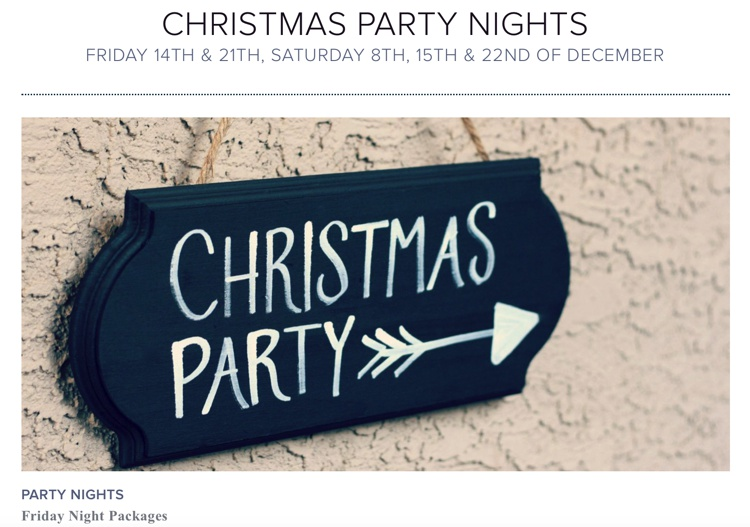 Christmas Party Nights at Beech Hill Hotel December 2018
