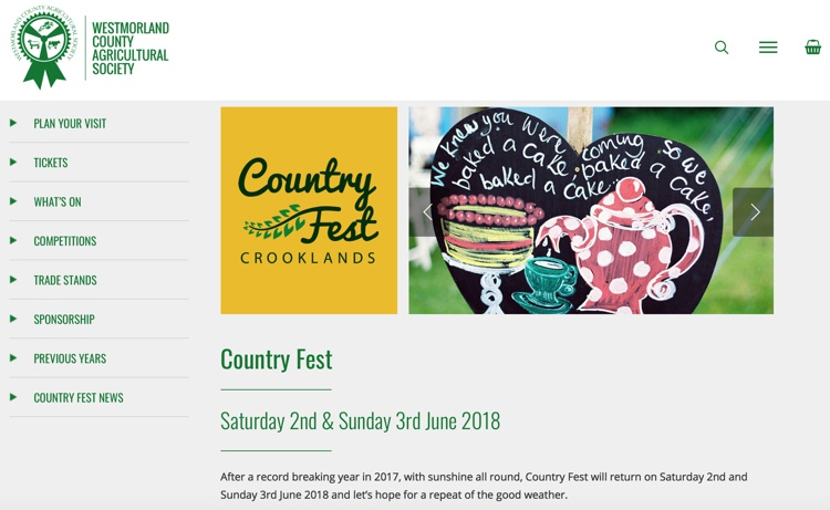 Country Fest, Crooklands, Near Kendal, June 2018