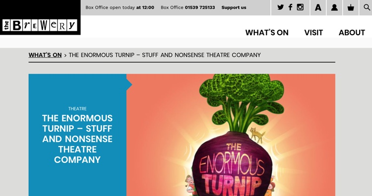 December 2018 The Enormous Turnip at the Brewery Arts Centre