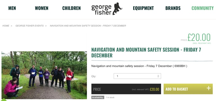 Navigation and Mountain Safety, George Fisher December 2018