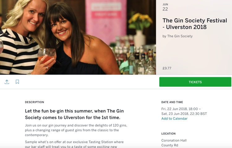 The Gin Society Gin Festival, Coronation Hall, Ulverston, June 2018