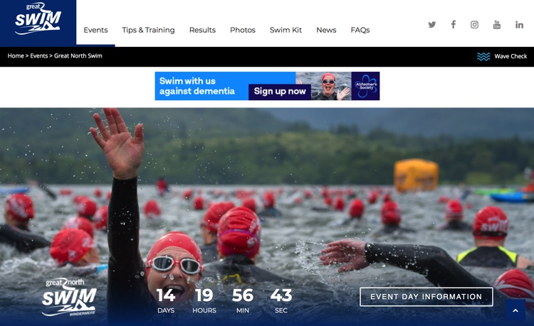 The Great North Swim, Brockhole, Lake Windermere, June 2018