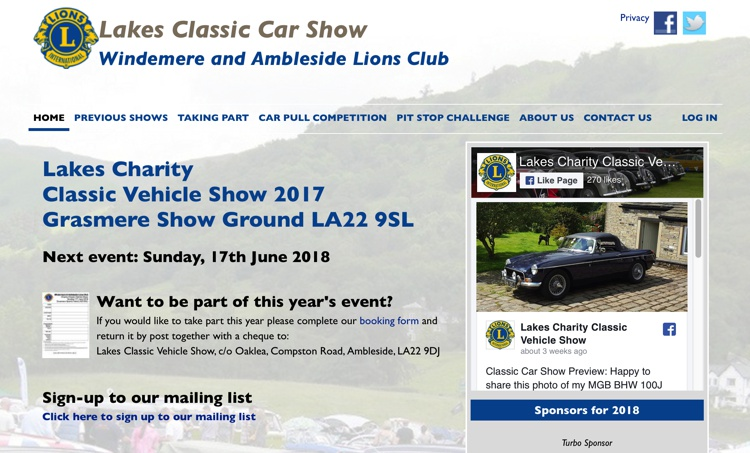 Lakes Classic Car Show, Grasmere Show Ground, June 2018