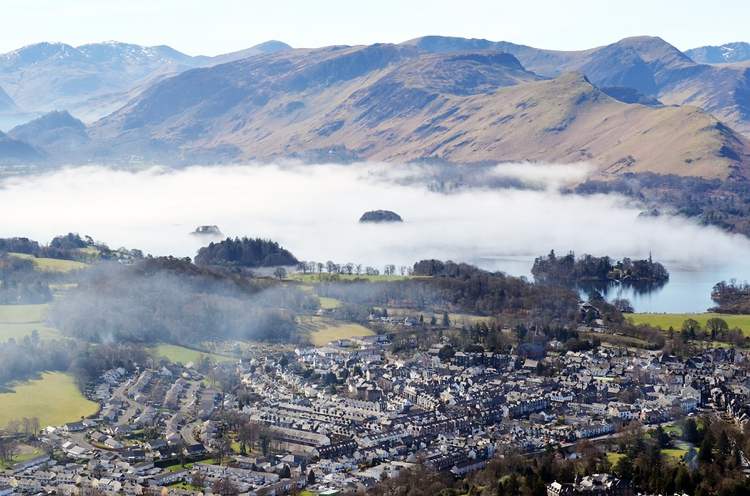 Keswick as viewed from Latrigg Fell