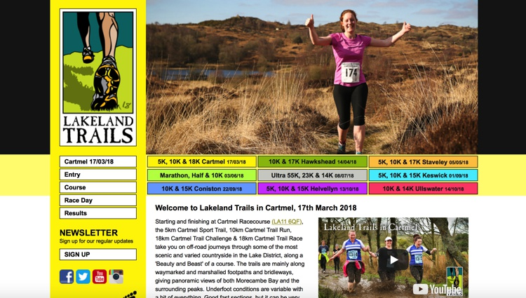 Lakeland Trails at Cartmel Racecourse 2018