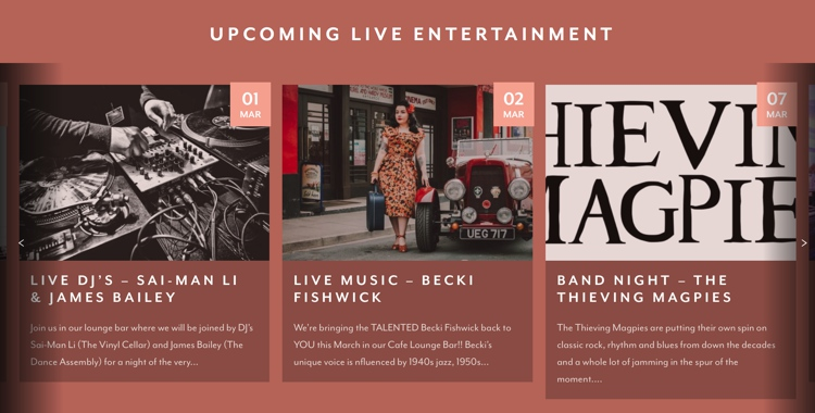 March 2019 Live Music Nights at Baha