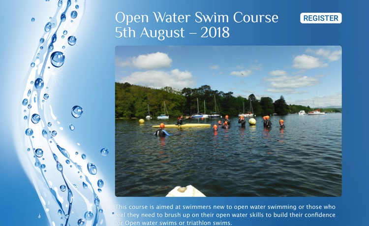 Open Water Swimming Course, Fell Foot Park, Newby Bridge August 2018