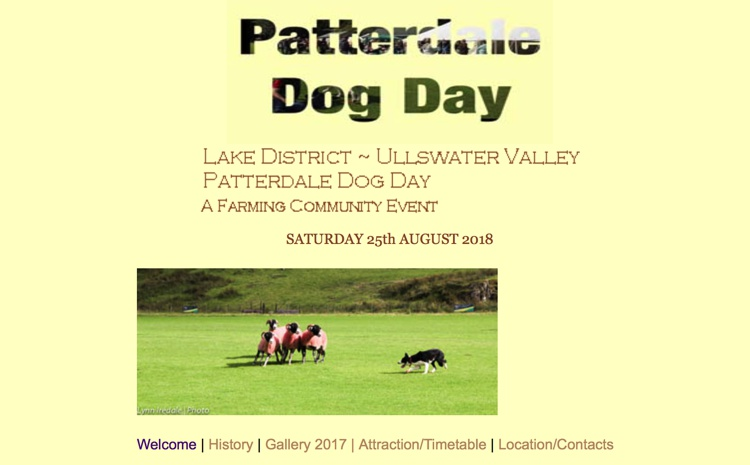 Patterdale Dog Day in Ullswater August 2018