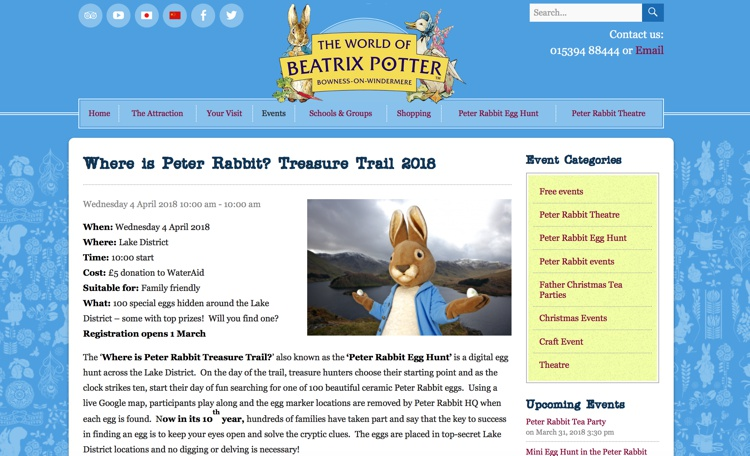 Where is Peter Rabbit? Easter Treasure Trail 2018