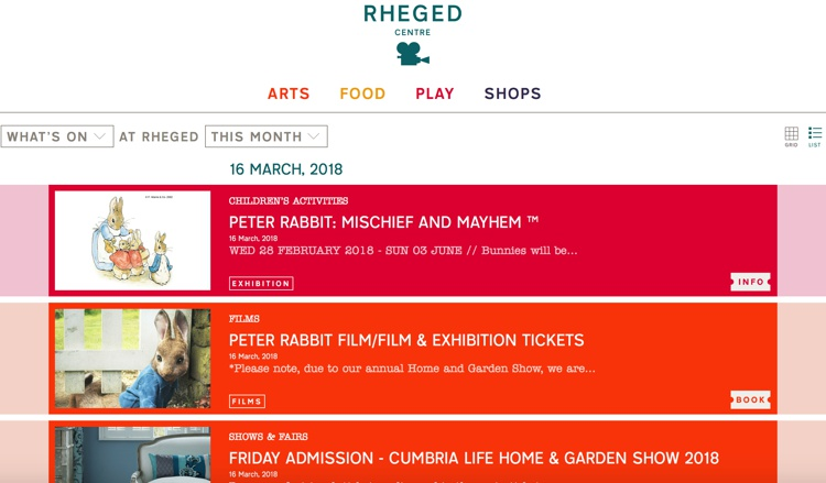 Rheged Centre Easter 2018
