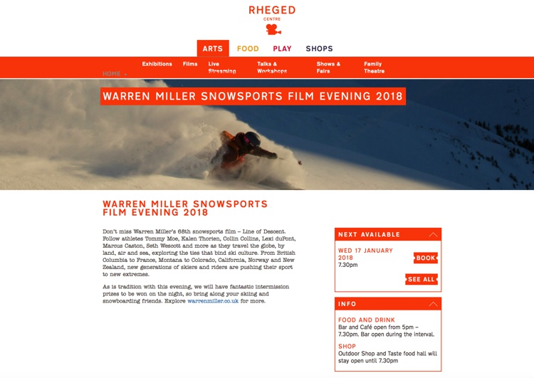 Warren Miller Snowsports Film Evening