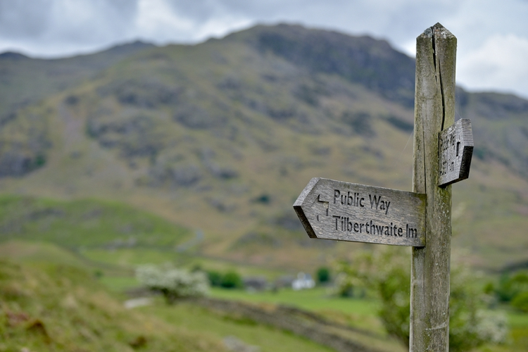 Signpost in Little Langdale