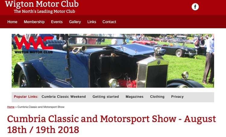 Cumbria Classic and Motorsport Show, Dalemain Estate, Nr Penrith, August 2018