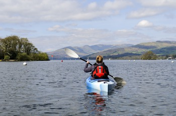 Kayaking on Lake Windermere