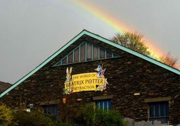 Rainbow outside of World of Beatrix Potter