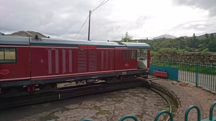 A Diesel Engine on the Ravenglass & Eskdale Railway