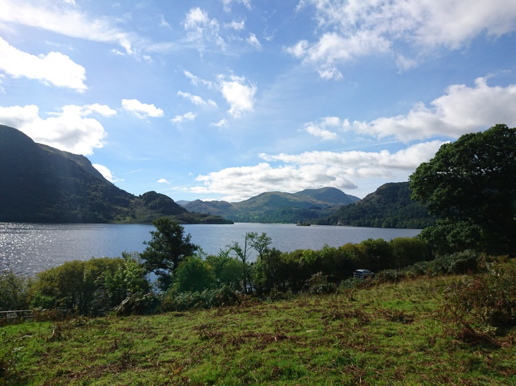 A view of Ullswater from the path
