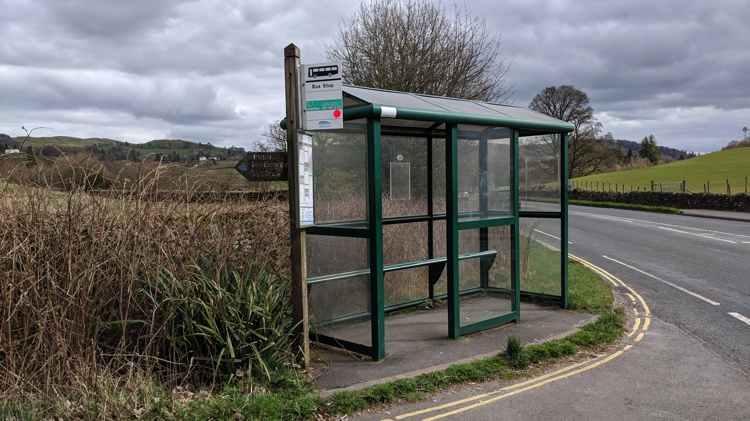 The Bus Shelter at the Start of Mirk Lane