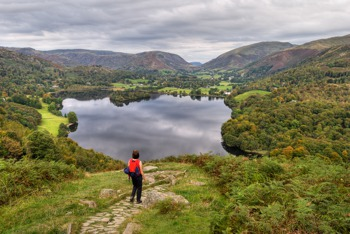 Path from Loughrigg with views of Grasmere