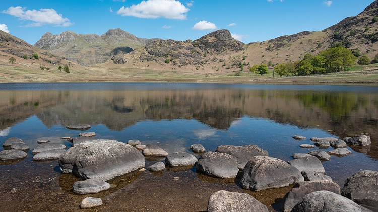 Blea Tarn with Reflections of the Langdale Pikes