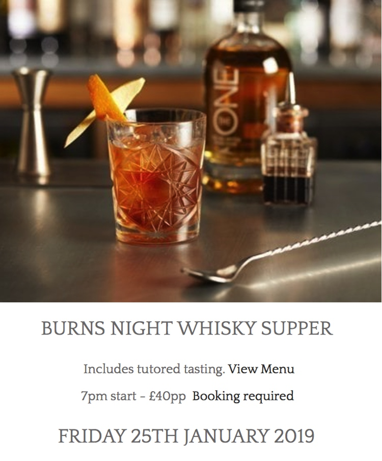 Burns Night Whisky Supper at the Lakes Distillery