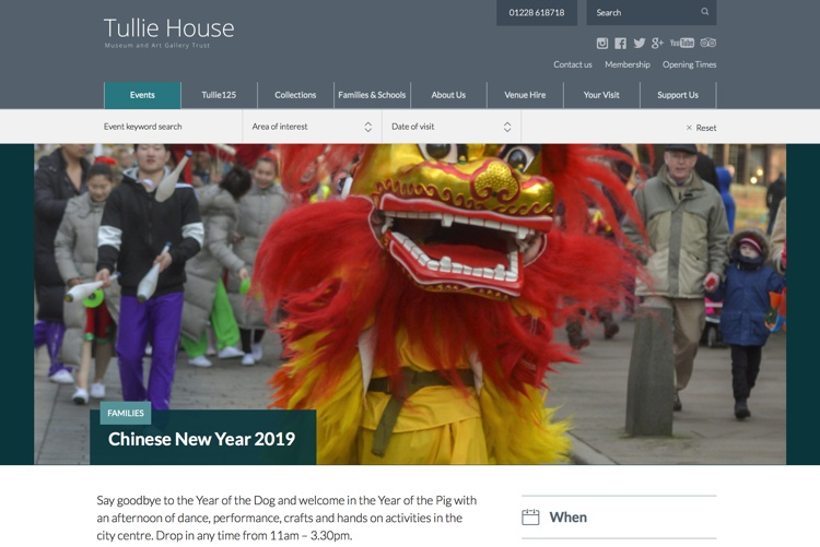 Chinese New Year at the Tullie House Museum Feb 2019