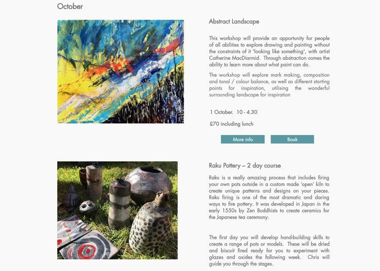 Courses at the Cowshed Creative