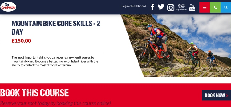 Mountain Bike Course at Cyclewise June 2019