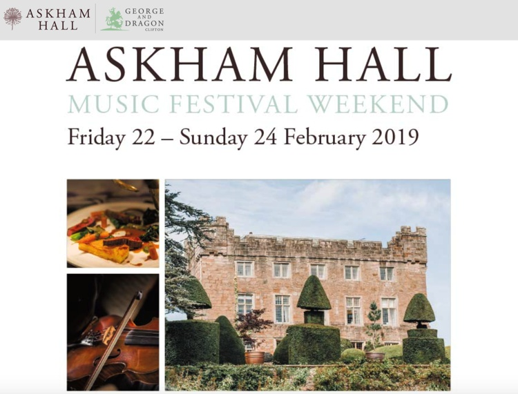 Music Festival Weekend at Askham Hall February 2019