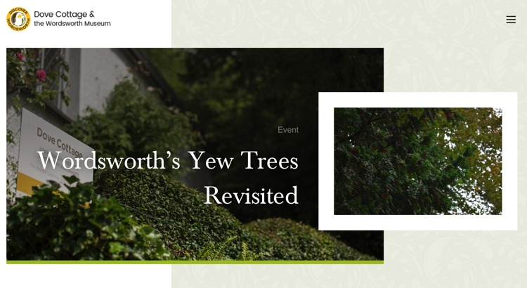 February 2019 Wordsworth's Yew Trees at Dove Cottage