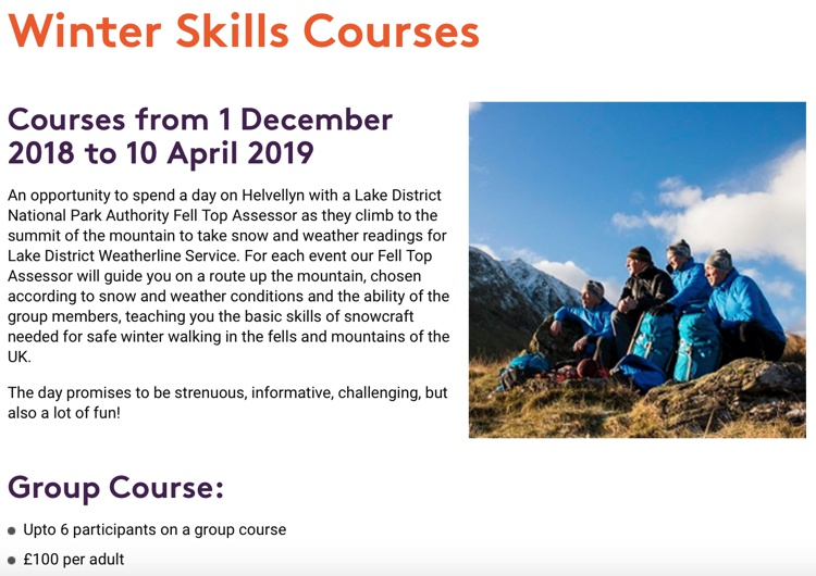 February 2019 Winter Skills Course
