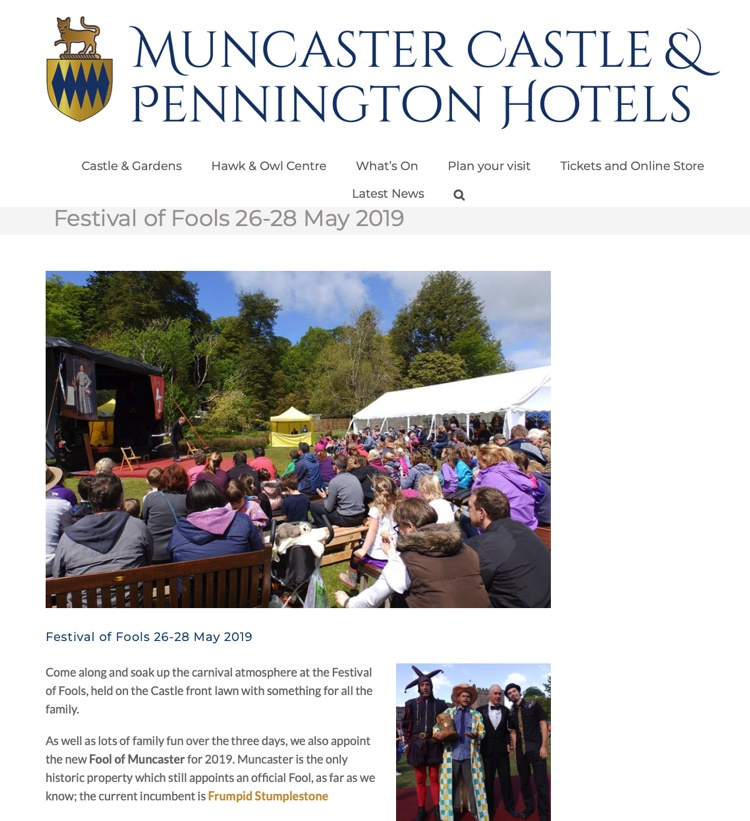 Festival of Fools at Muncaster Castle May 2019