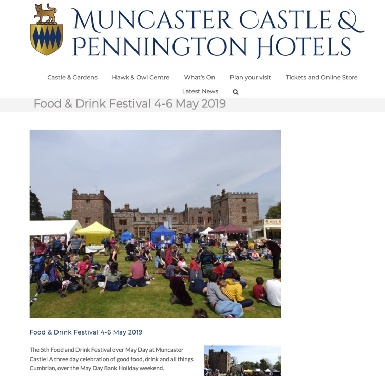 Food & Drink Festival at Muncaster Castle May 2019