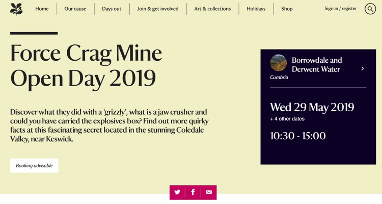 Force Crag Mine Open Day June 2019