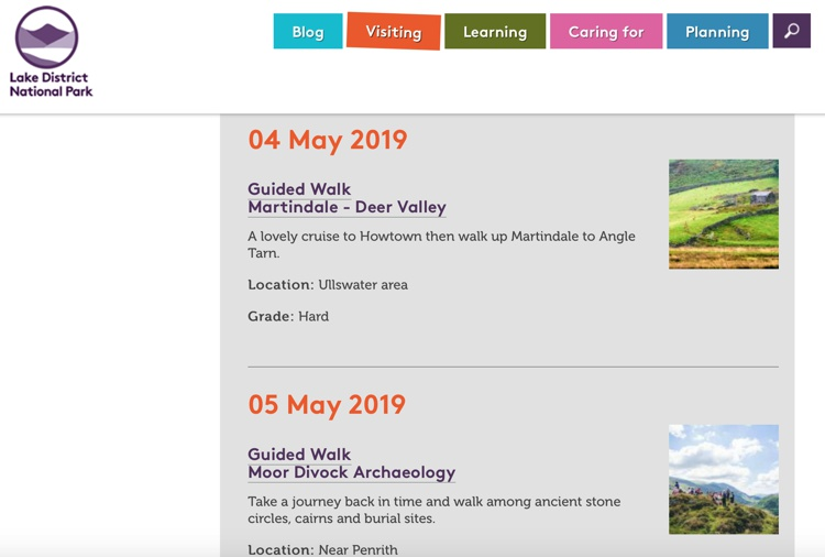 Guided walks with the Lake District National Park Authority