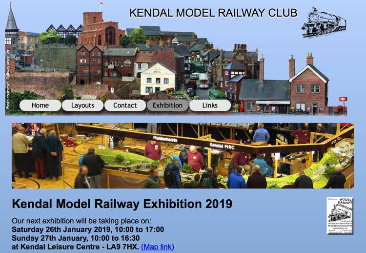 Kendal Model Railway Exhibition at the Kendal Leisure Centre
