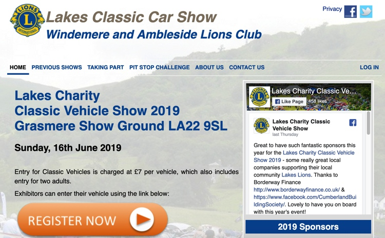 Lakes Charity Classic Vehicle Show 2019