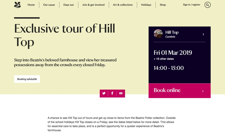 March 2019 Exclusive Tour of Hill Top