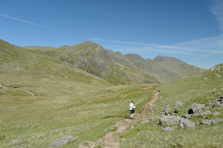 Path to Pike of Blisco Beneath Crinkle Crags