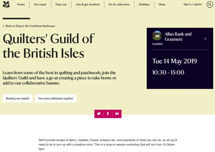 Quilters Guild of the British Isles May 2019