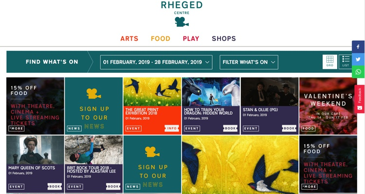 February 2019 at the Rheged Centre