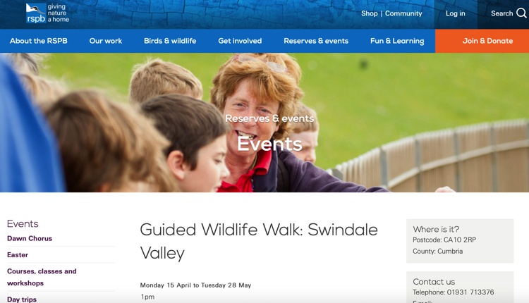 RSPB Guided Wildlife Walk May 2019