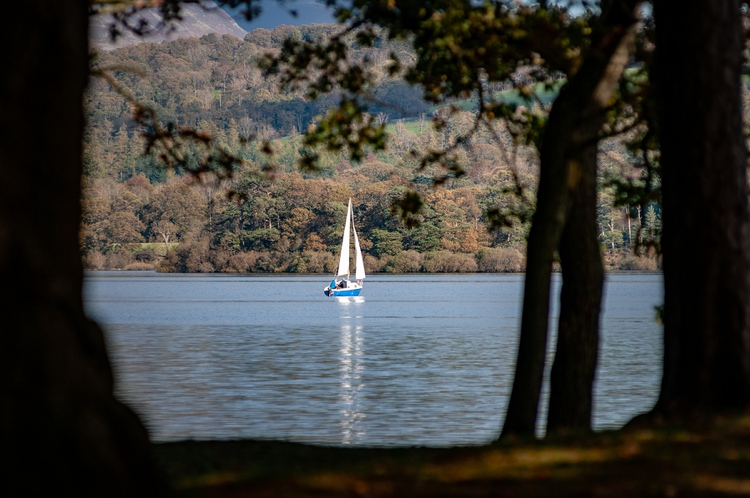 Sail boat on Derwent Water