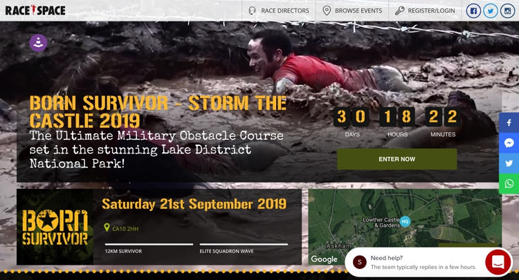 September 2019 Born Survivor at Lowther Castle