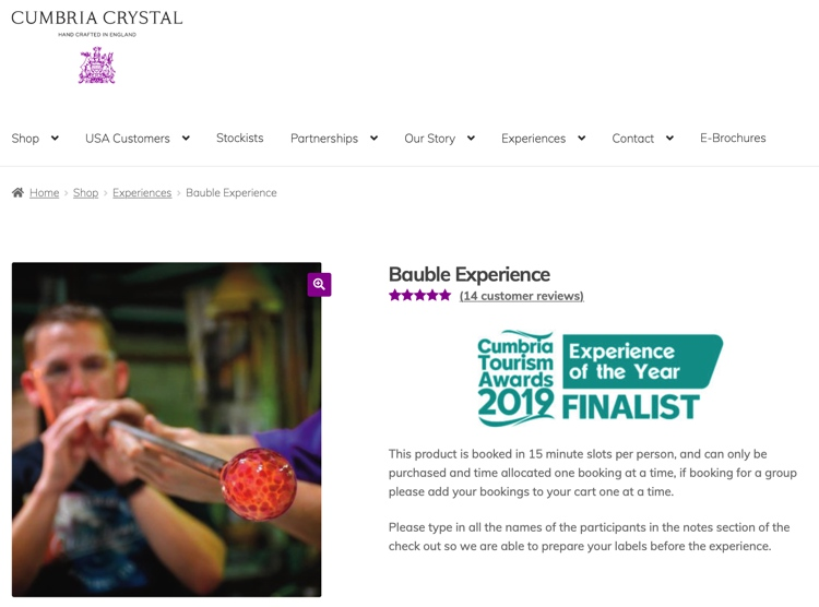September 2019 Glass Blowing Bauble Experience