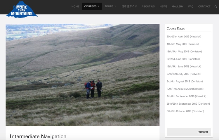 September 2019 Intermediate Navigation Course with More than Mountains