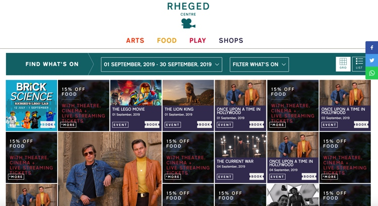 September 2019 at the Rheged Centre