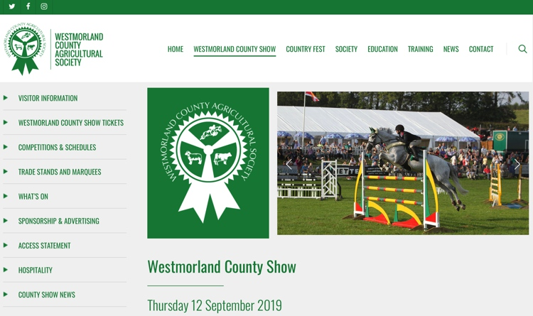 Westmorland County Show September 2019